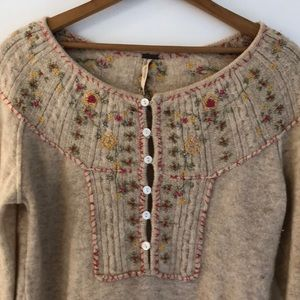 Free People Sweater with Buttons